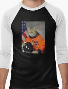 Astronaut Cat Kitten Funny Space Men's Baseball ¾ T-Shirt