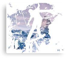 Snowboard & Mountain Canvas Print