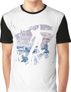 Snowboard & Mountain Graphic T-Shirt
