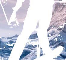 Snowboard & Mountain Sticker