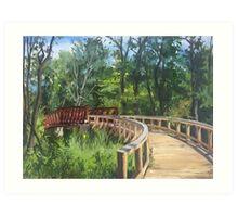Bridge Over the Huron River Art Print
