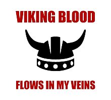 Viking Blood Photographic Print
