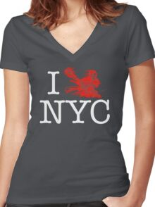 I Crank NYC Women's Fitted V-Neck T-Shirt