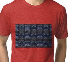 Blue Drawing Ink Print Tri-blend T-Shirt
