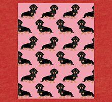 Dachshund pet portrait dog breed gift for weener dog owner Tri-blend T-Shirt