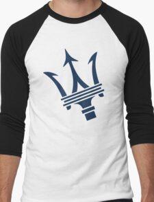 Maserati of Birmingham Blue Trident Men's Baseball ¾ T-Shirt