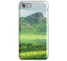 Mountain Meadow by a Green Tarn iPhone Case/Skin