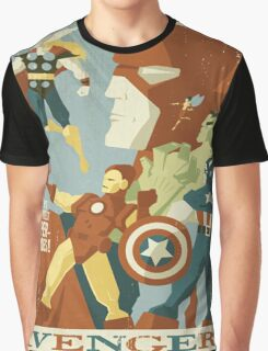 Superheroes vintage Graphic T-Shirt