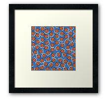 Flowers (blue) Framed Print