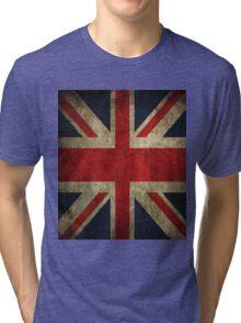 Vintage UK Flag Tri-blend T-Shirt