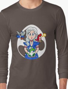 Prehistoric Princess Peach Long Sleeve T-Shirt