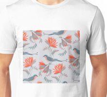 pretty bird red flower pattern  T-Shirt