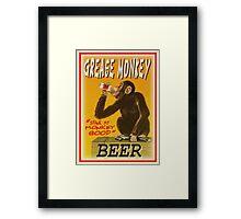 grease monkey beer poster Framed Print