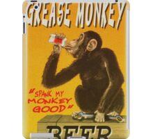 grease monkey beer poster iPad Case/Skin