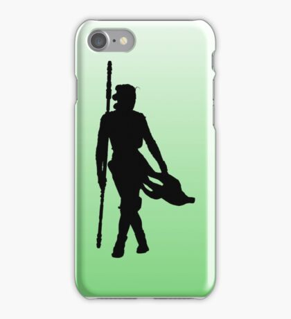 Rey with Staff Silhouette iPhone Case/Skin