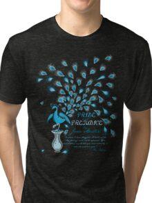 Paisley Peacock Pride and Prejudice: Classic Tri-blend T-Shirt