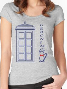 Geronimo! - Doctor Who Women's Fitted Scoop T-Shirt