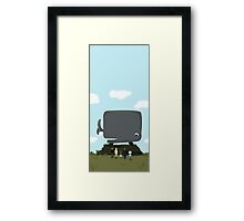 The Hitchhiker's Guide to the Galaxy - Whale Framed Print