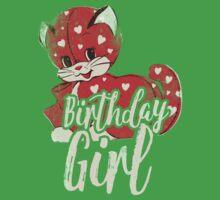 Vintage Birthday Girl Kids Tee