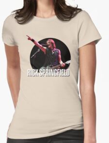 rick springfield 2 Womens Fitted T-Shirt