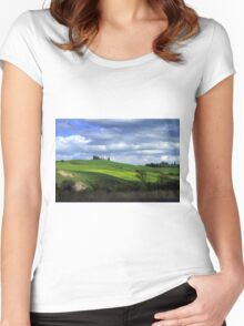 Tuscany landscape Women's Fitted Scoop T-Shirt