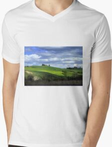 Tuscany landscape Mens V-Neck T-Shirt