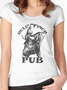 Bull and Finch pub t-shirt – Cheers, Frasier, Vintage/Weathered Women's Fitted Scoop T-Shirt