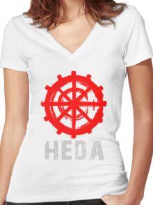 symbol heda Women's Fitted V-Neck T-Shirt