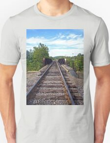 Rail Road Tracks into Town Unisex T-Shirt