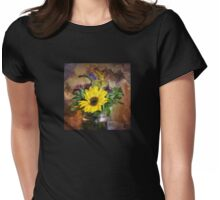 A Jar Of Wildflowers Womens Fitted T-Shirt