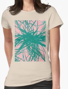 Dragon Plant Pattern - Pink Variation Womens Fitted T-Shirt