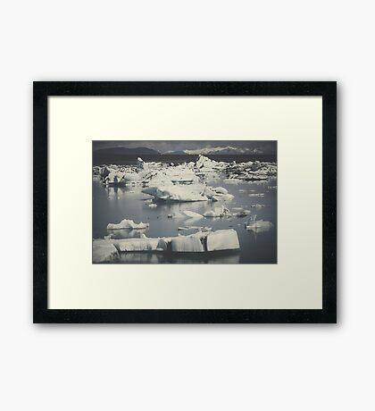 Icebergs II Framed Print