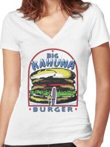 Big Kahuna Burger t-shirt (Pulp Fiction, Tarantino, Bad Motherf**ker) Women's Fitted V-Neck T-Shirt