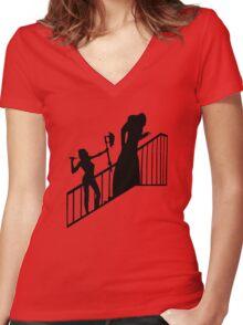Buffy VS Count Orlok! Women's Fitted V-Neck T-Shirt