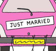 Just married lesbian wedding. Sticker
