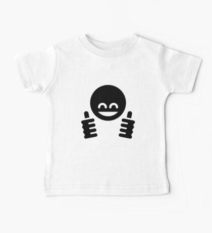 Thumb Up Emoticon Smiley (Black) Baby Tee