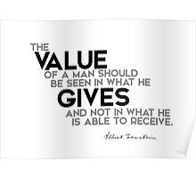 the value gives - einstein Poster