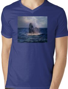 Humpback Rising  Mens V-Neck T-Shirt