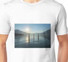 Alpine lake with sunshine Unisex T-Shirt