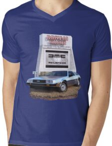 1982 DeLorean DMC-12 Day Mens V-Neck T-Shirt