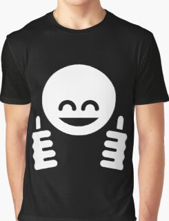 Thumb Up Emoticon Smiley (White) Graphic T-Shirt