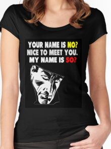 My Name is No humorous song parody Women's Fitted Scoop T-Shirt