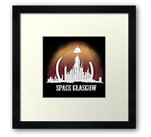 Space Glasgow Framed Print