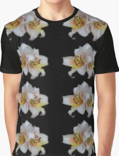 Textured White Lilies Graphic T-Shirt