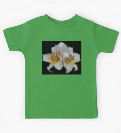 Textured White Lilies Kids Tee