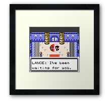 Pokemon Generation II - Champion Lance wants to fight! Framed Print