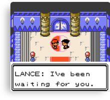Pokemon Generation II - Champion Lance wants to fight! Canvas Print
