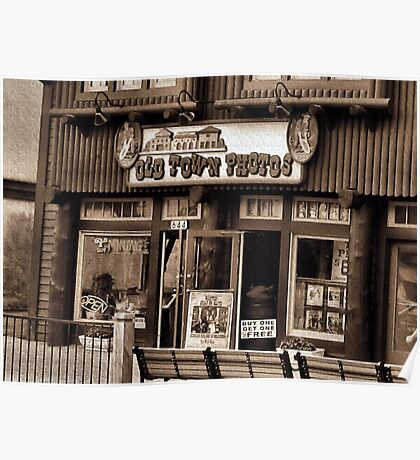 """Gatlinburg, Tennessee Series, #5... 'The Old Timey Photo Shop, 3rd Picture'""... prints and products   Poster"