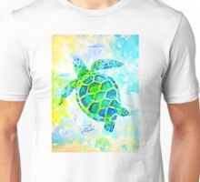 Sea Turtle with background by Jan Marvin Unisex T-Shirt