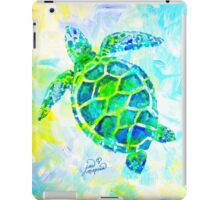 Sea Turtle with background by Jan Marvin iPad Case/Skin